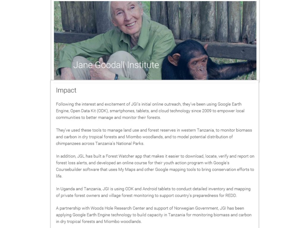 The challenge faced by Jane Goodall Institute